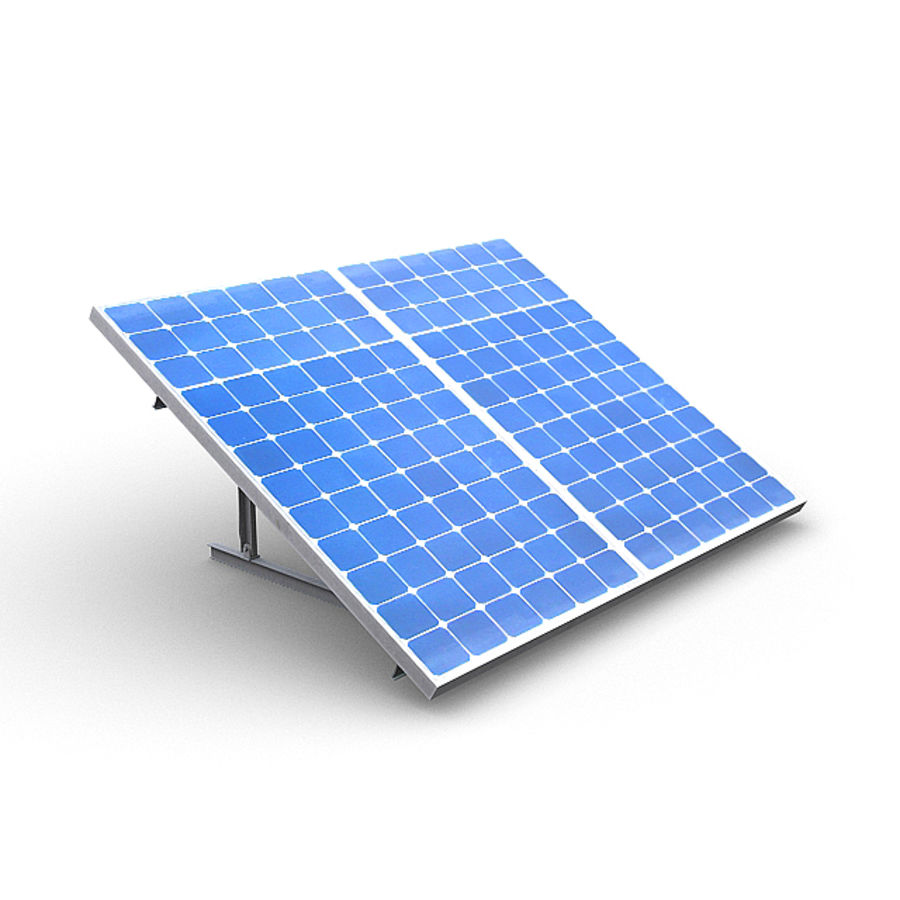 Solar Panels 1 royalty-free 3d model - Preview no. 2