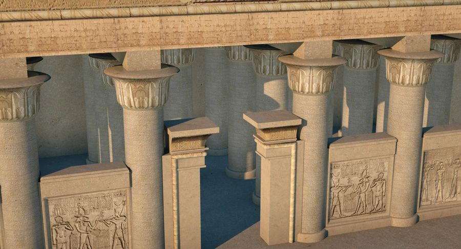 Egyptiska templet royalty-free 3d model - Preview no. 3