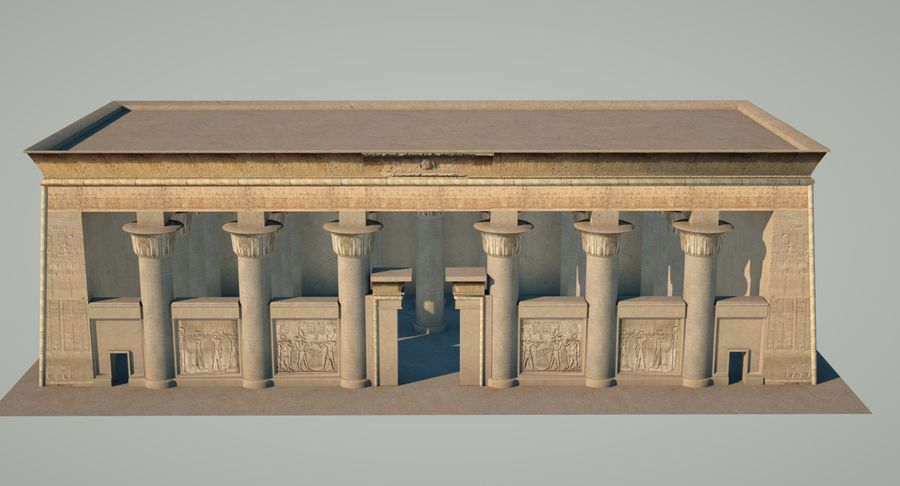 Egyptiska templet royalty-free 3d model - Preview no. 5