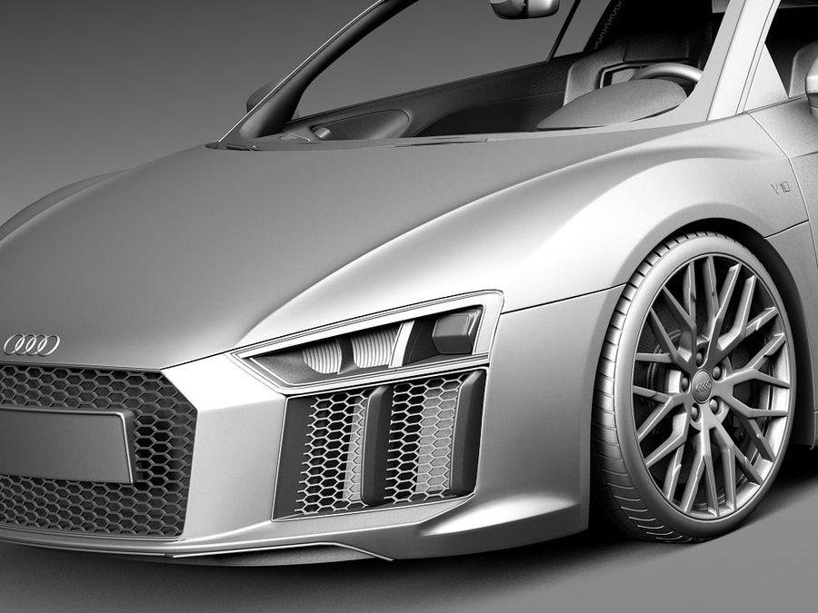 Audi R8 V10 Plus 2016 royalty-free 3d model - Preview no. 13