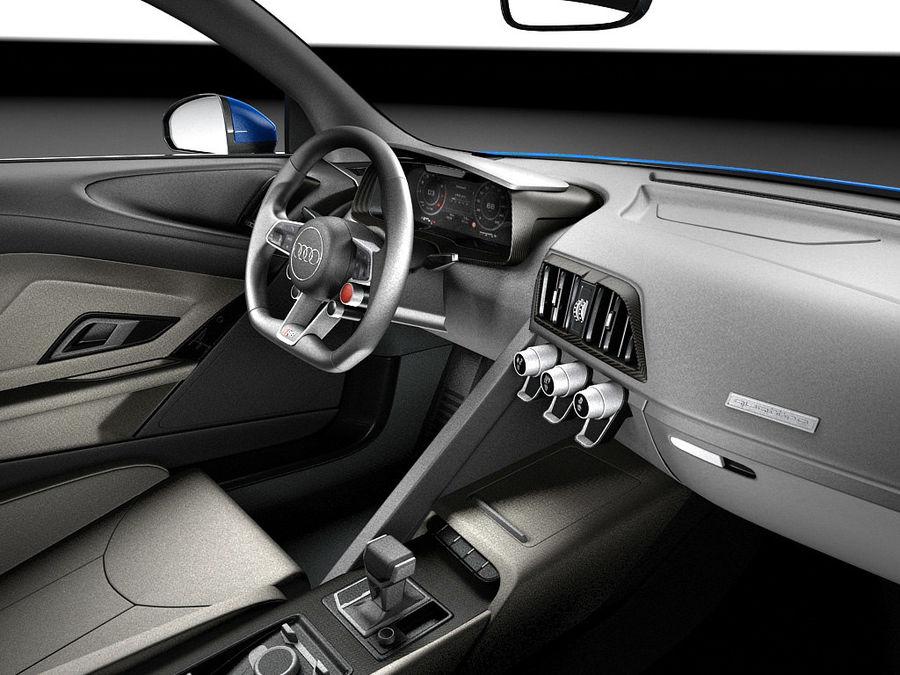 Audi R8 V10 Plus 2016 royalty-free 3d model - Preview no. 9