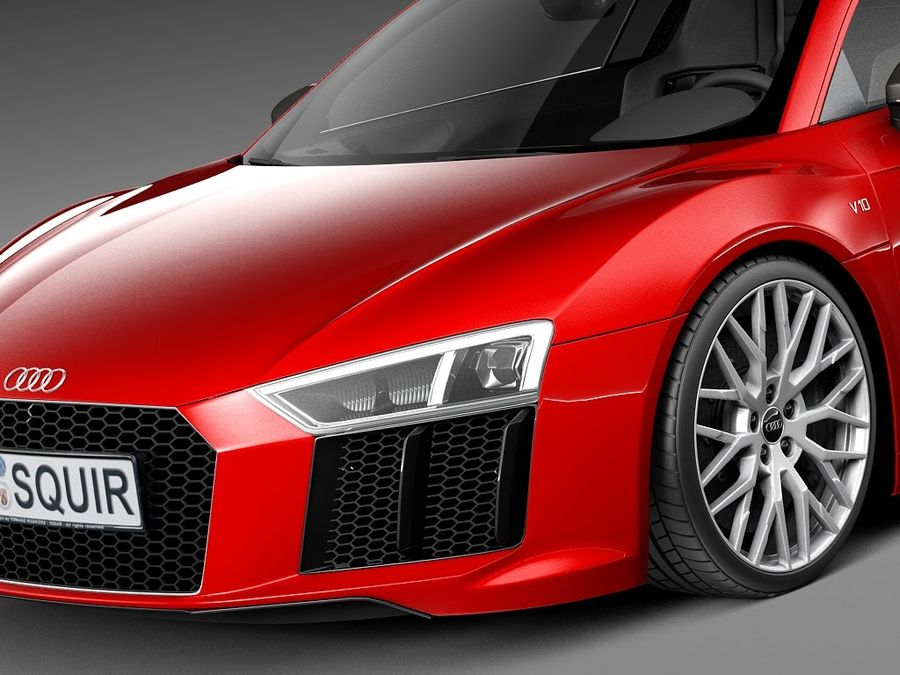 Audi R8 V10 Plus 2016 royalty-free 3d model - Preview no. 3