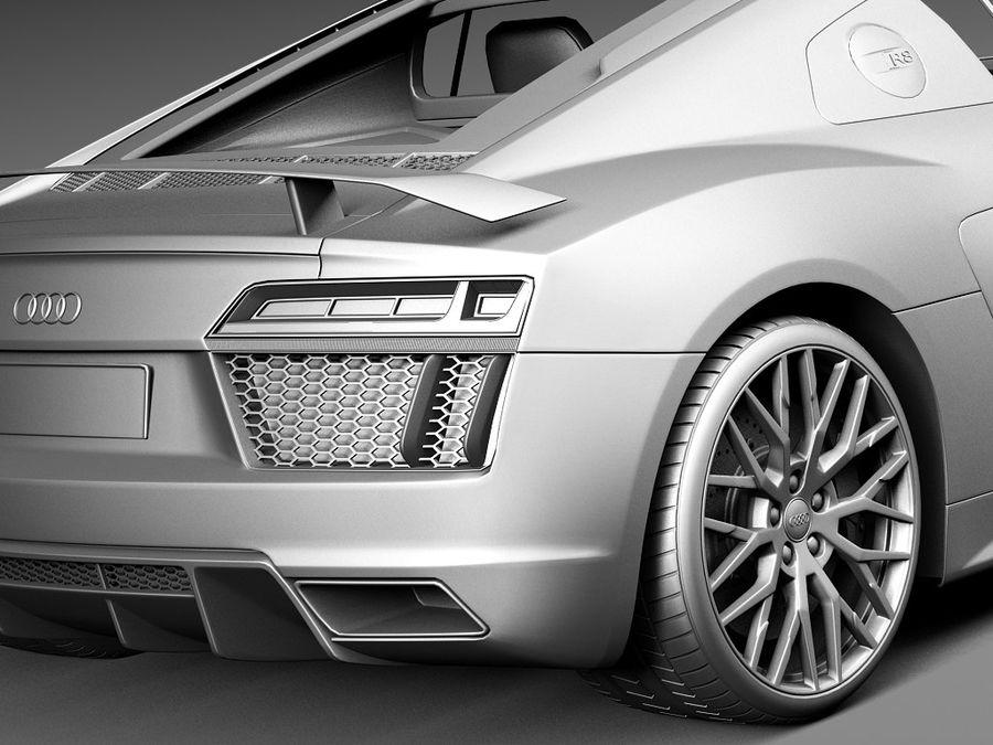 Audi R8 V10 Plus 2016 royalty-free 3d model - Preview no. 14