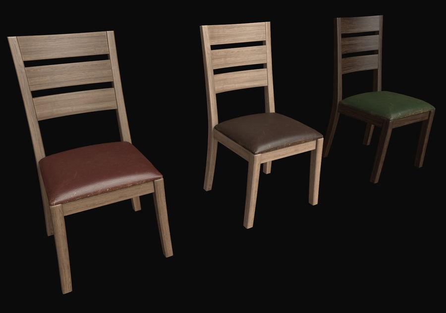 Pack de chaises prêt pour le jeu royalty-free 3d model - Preview no. 2