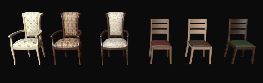 Pack de chaises prêt pour le jeu royalty-free 3d model - Preview no. 1