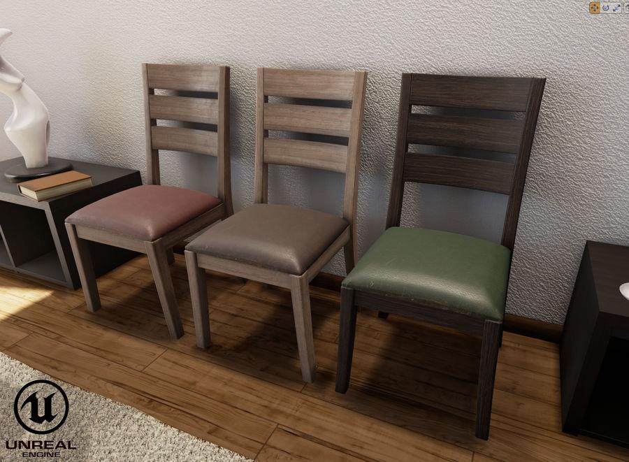 Pack de chaises prêt pour le jeu royalty-free 3d model - Preview no. 7
