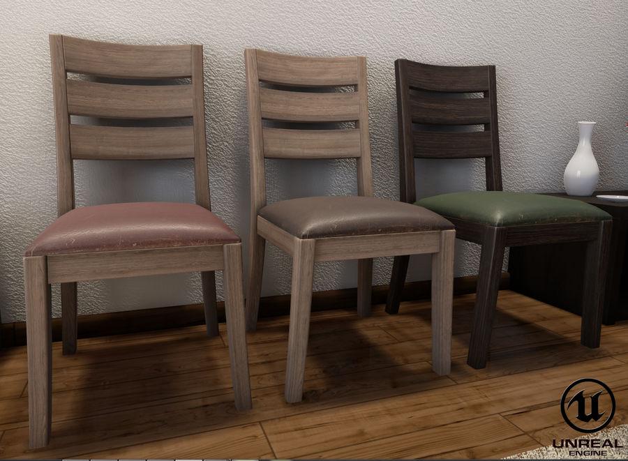 Pack de chaises prêt pour le jeu royalty-free 3d model - Preview no. 6