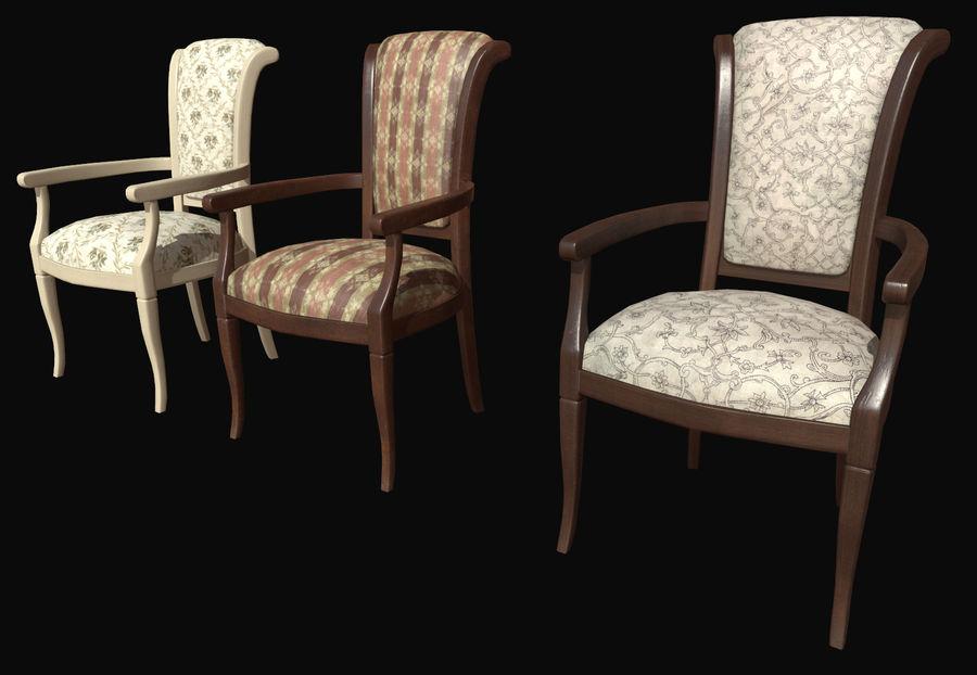 Pack de chaises prêt pour le jeu royalty-free 3d model - Preview no. 3