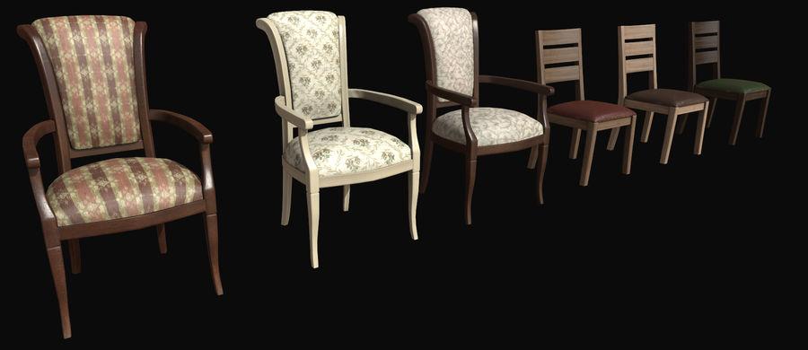 Pack de chaises prêt pour le jeu royalty-free 3d model - Preview no. 5