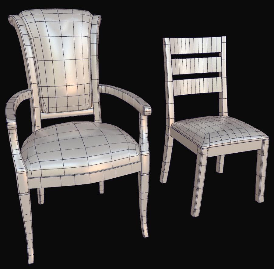 Pack de chaises prêt pour le jeu royalty-free 3d model - Preview no. 8