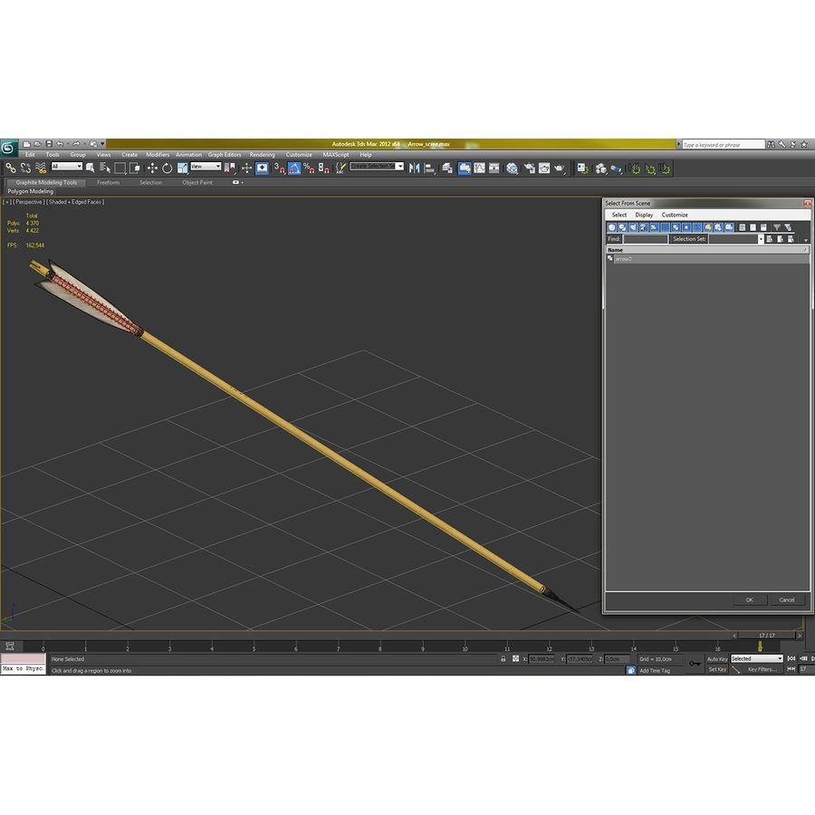 Bow Arrow royalty-free 3d model - Preview no. 21