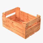 Cassa di frutta in legno 2 3d model