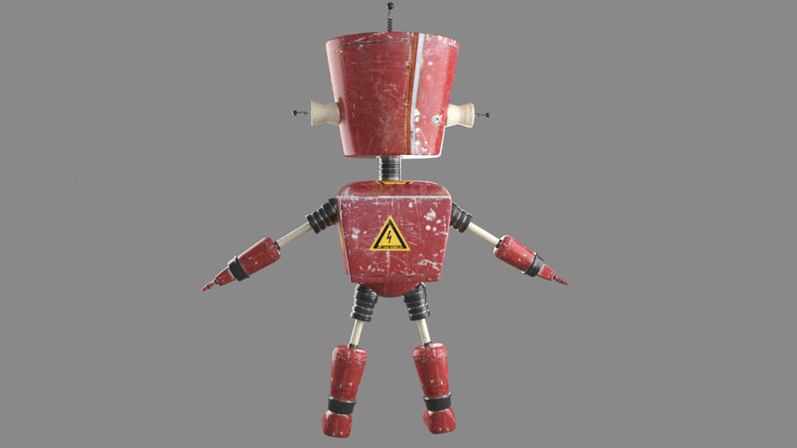 Robot royalty-free 3d model - Preview no. 3