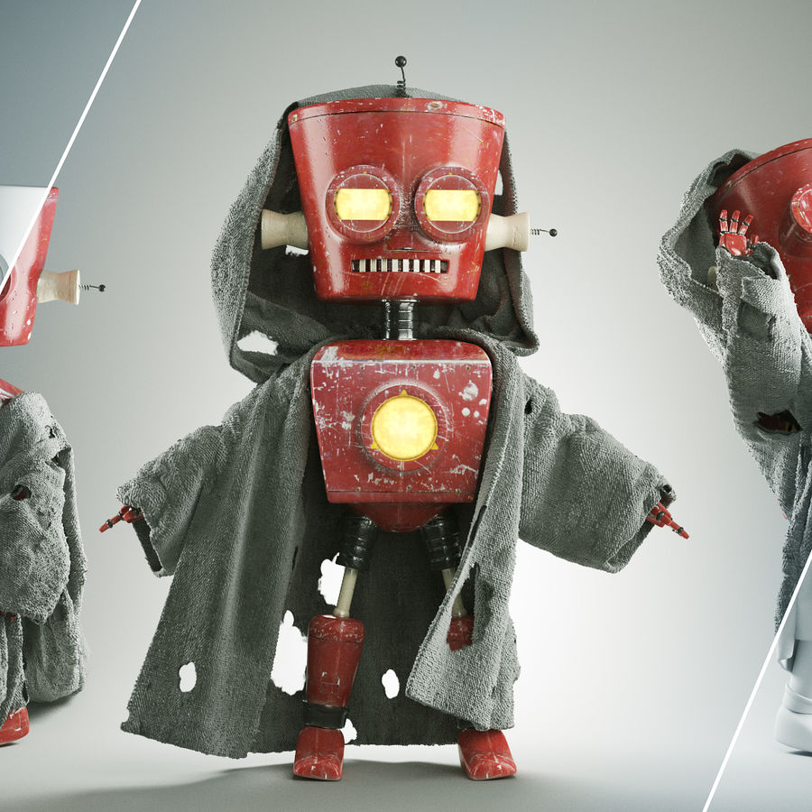Robot royalty-free 3d model - Preview no. 1