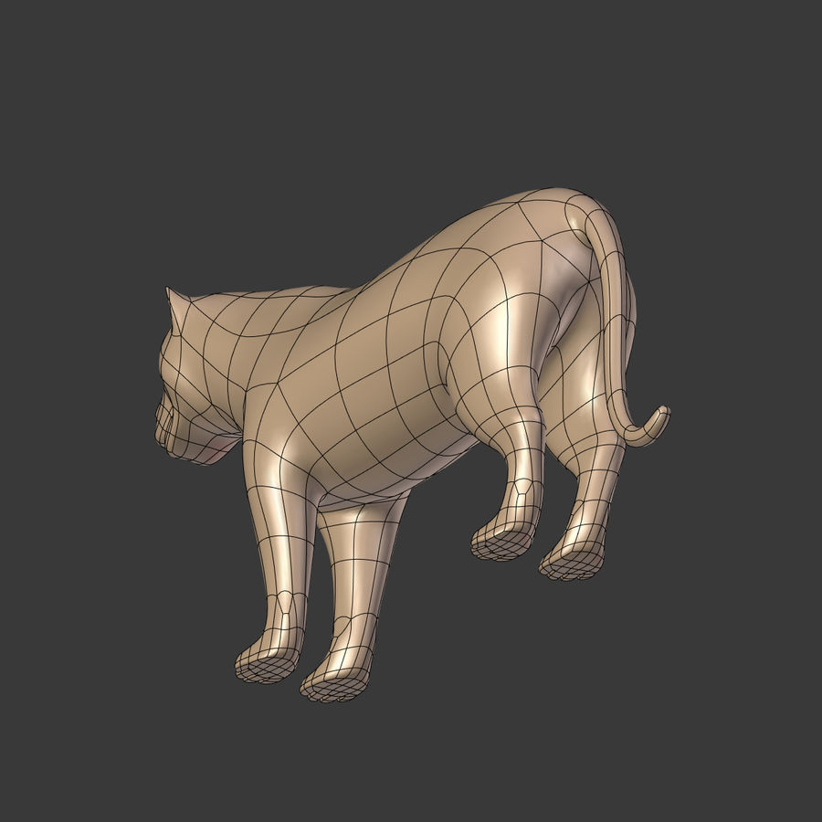 Leopard royalty-free 3d model - Preview no. 16