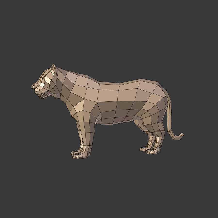 Leopard royalty-free 3d model - Preview no. 5