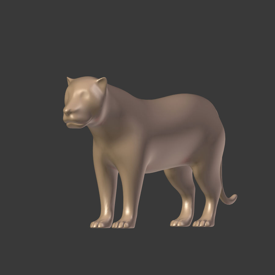 Leopard royalty-free 3d model - Preview no. 9