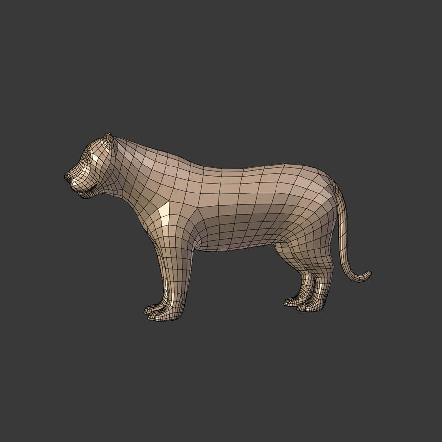 Leopard royalty-free 3d model - Preview no. 7