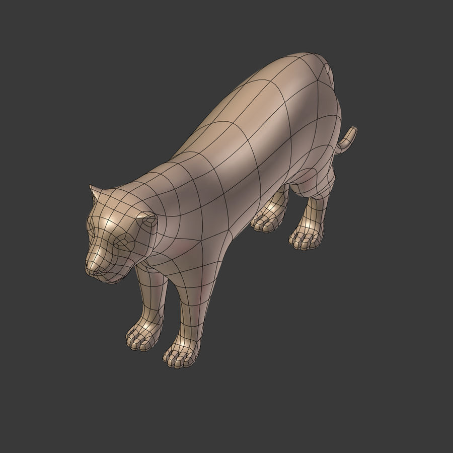 Leopard royalty-free 3d model - Preview no. 14