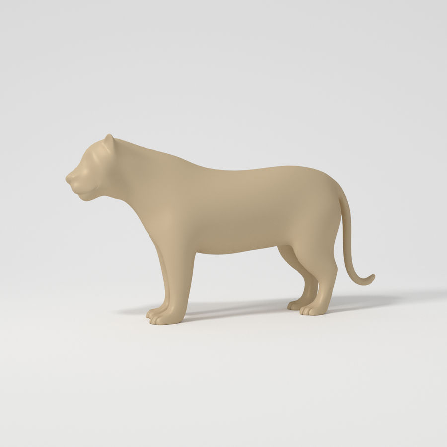 Leopard royalty-free 3d model - Preview no. 2