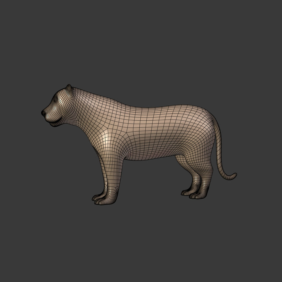 Leopard royalty-free 3d model - Preview no. 8