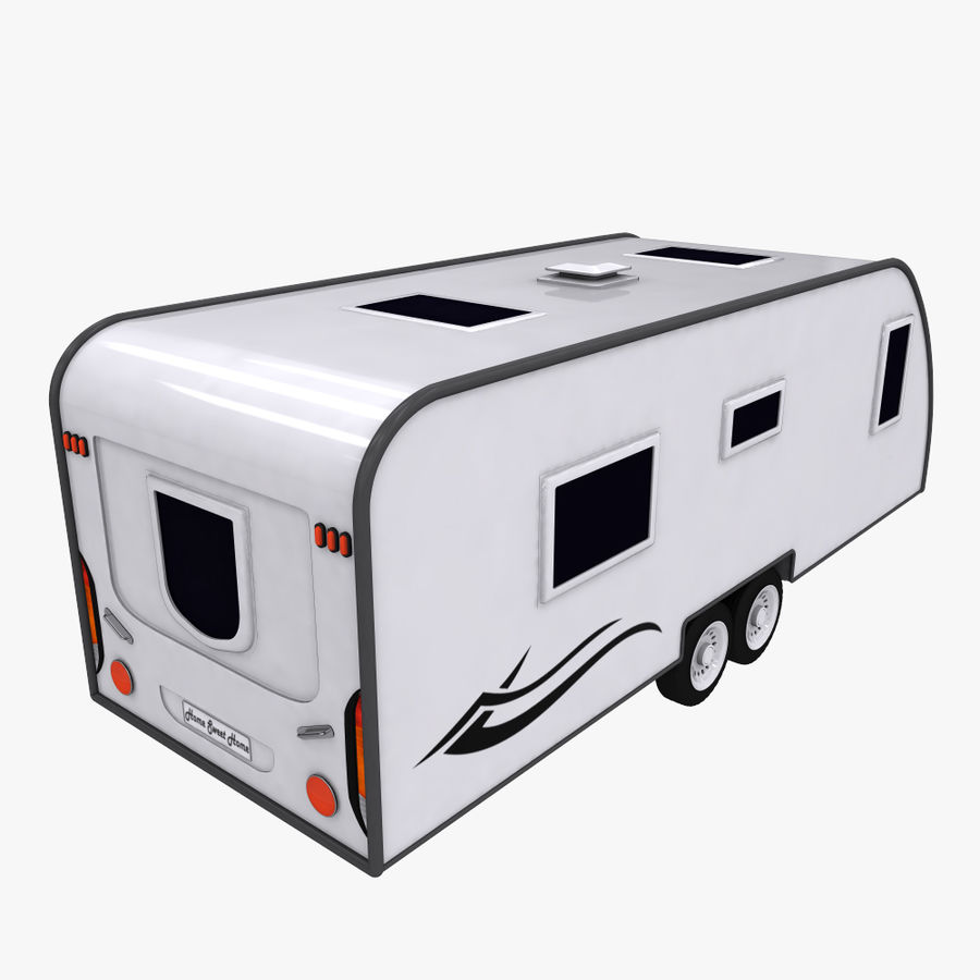 caravan royalty-free 3d model - Preview no. 4