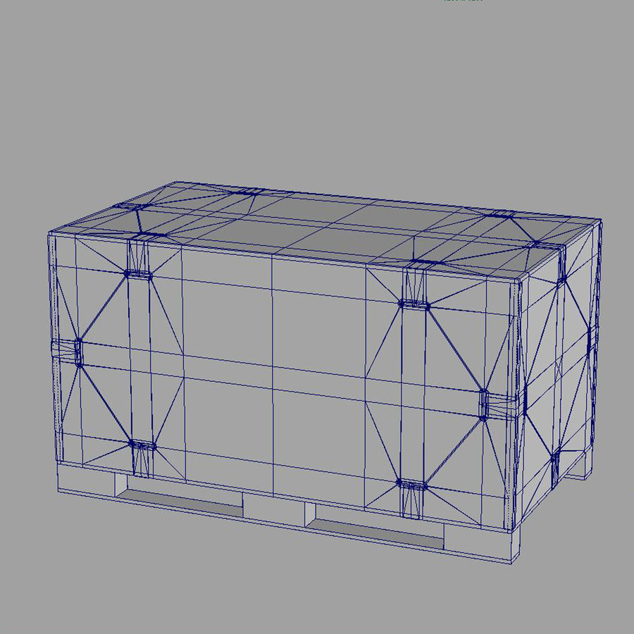 shiping_crate royalty-free 3d model - Preview no. 12