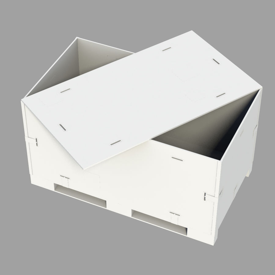shiping_crate royalty-free 3d model - Preview no. 8