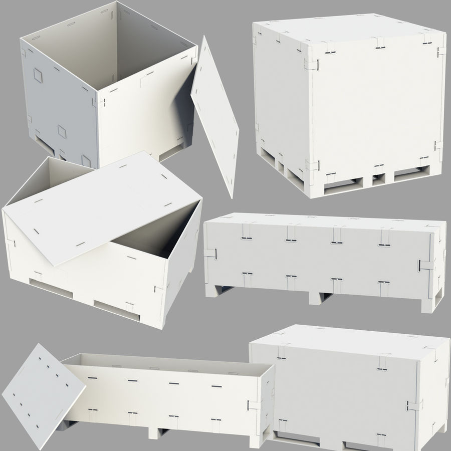 shiping_crate royalty-free 3d model - Preview no. 1