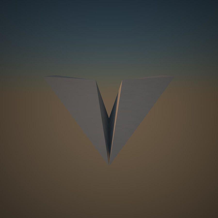 Avião de papel royalty-free 3d model - Preview no. 3