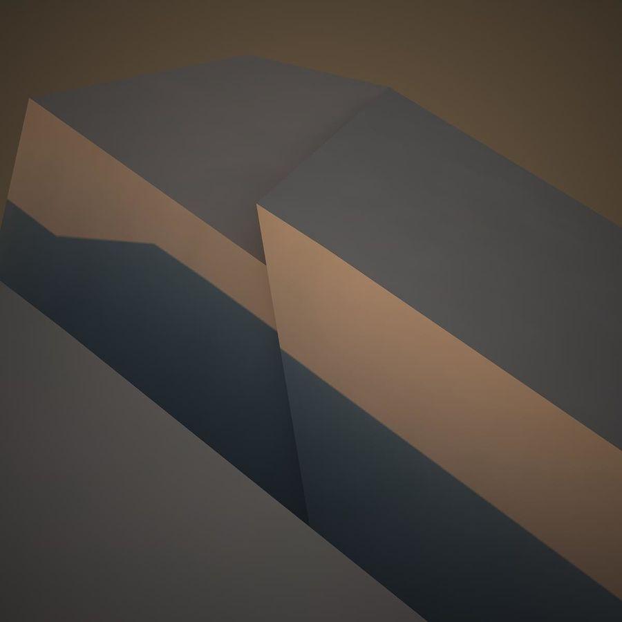 Avião de papel royalty-free 3d model - Preview no. 12
