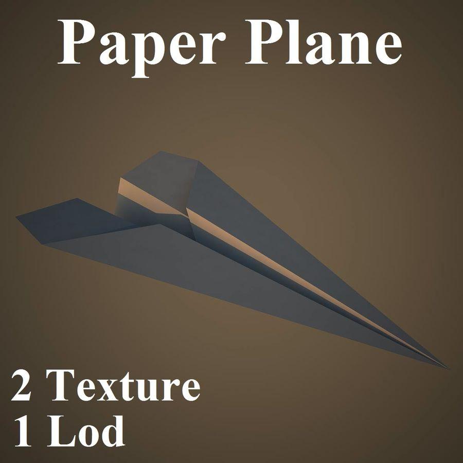 Avião de papel royalty-free 3d model - Preview no. 1