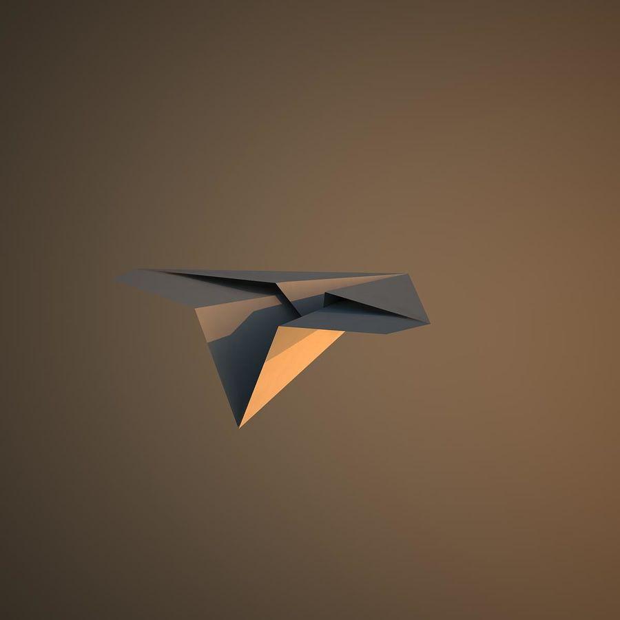 Avião de papel royalty-free 3d model - Preview no. 10