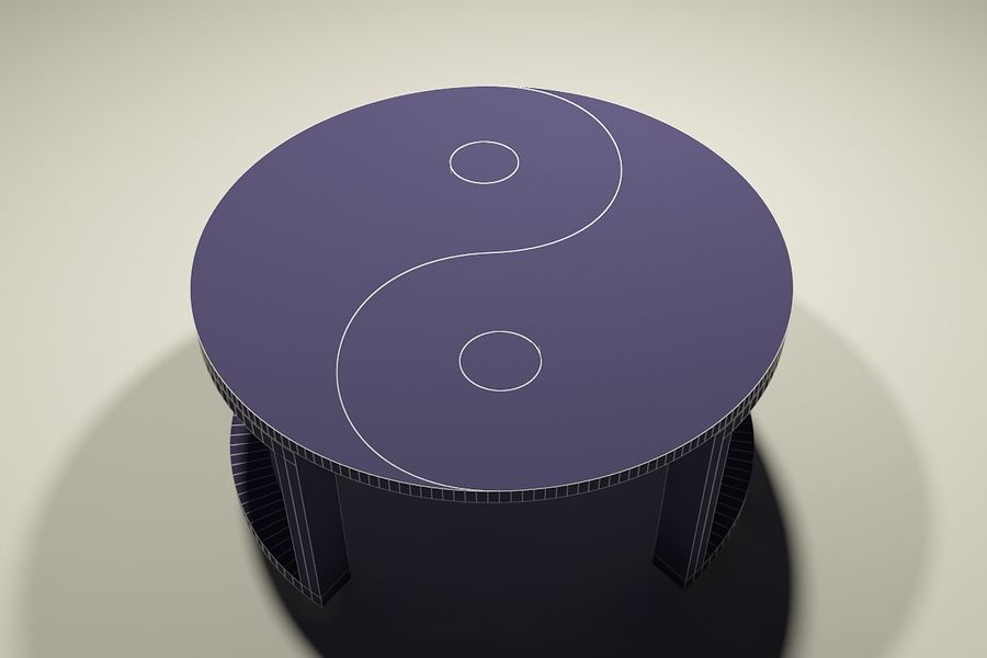 yin & yang marble coffee table royalty-free 3d model - Preview no. 5