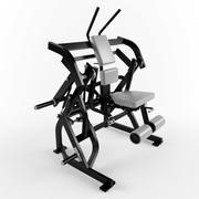 低ポリ体操用具腹部斜めクランチ 3d model
