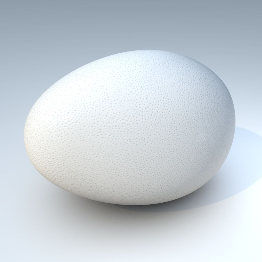 white egg royalty-free 3d model - Preview no. 1