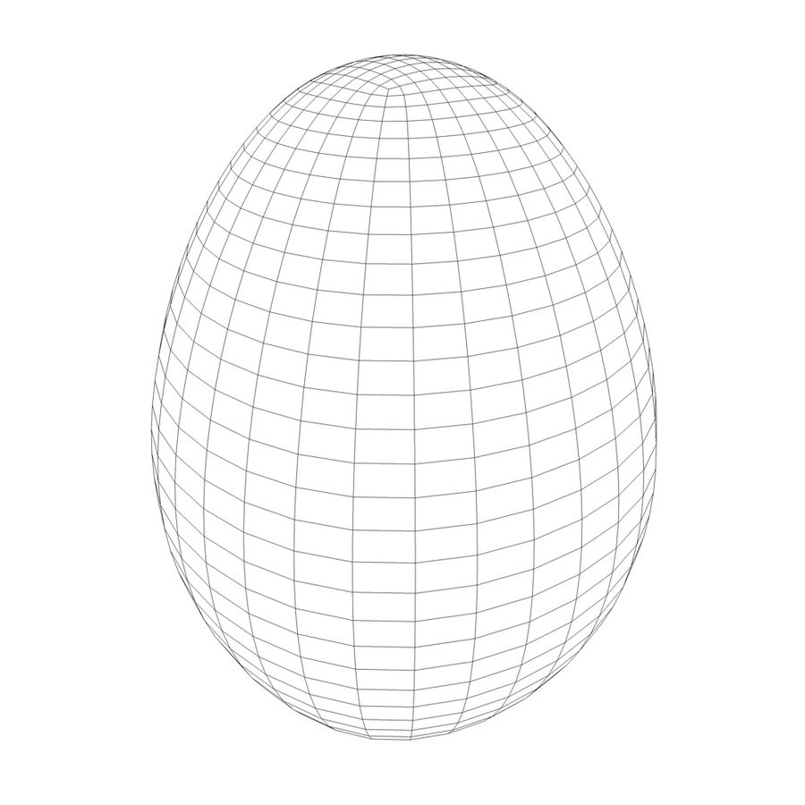 white egg royalty-free 3d model - Preview no. 5