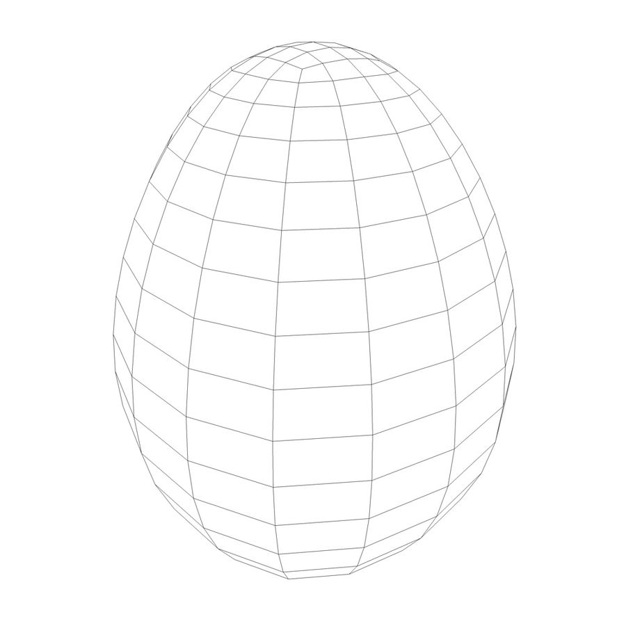 white egg royalty-free 3d model - Preview no. 4