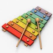Wooden Xylophone Toy 3d model