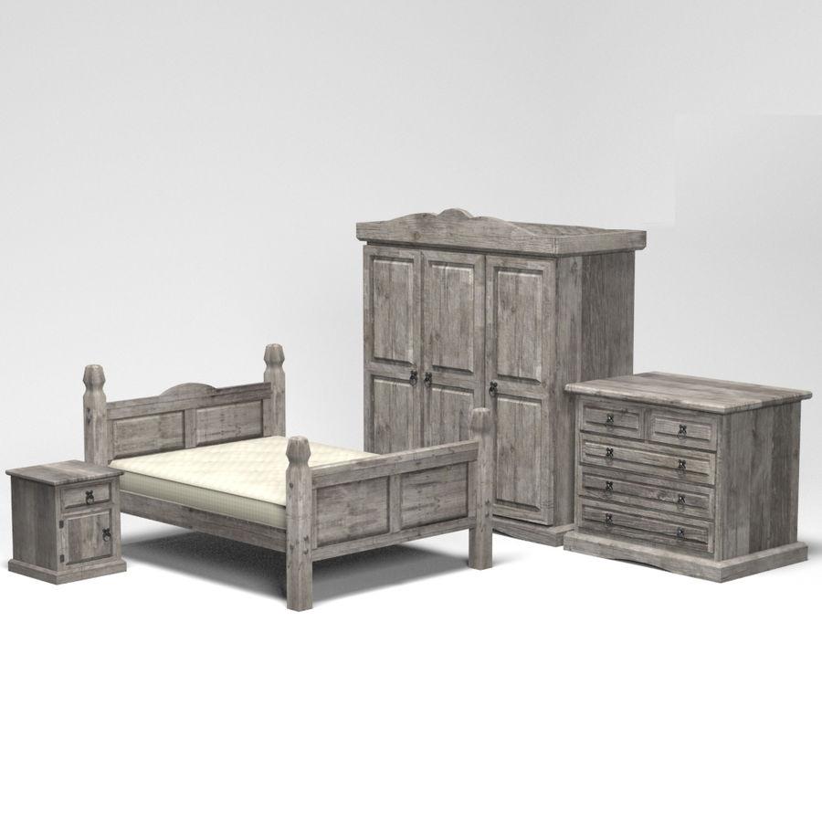 Colección de muebles de dormitorio royalty-free modelo 3d - Preview no. 2