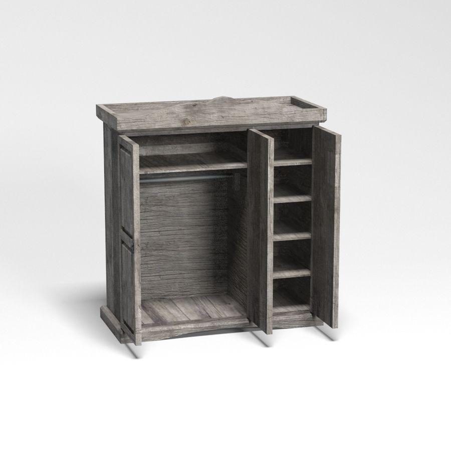 Colección de muebles de dormitorio royalty-free modelo 3d - Preview no. 33