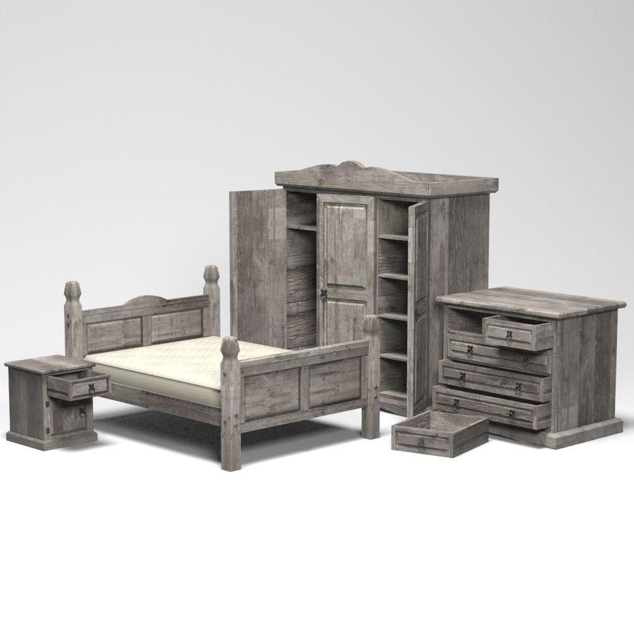 Colección de muebles de dormitorio royalty-free modelo 3d - Preview no. 3