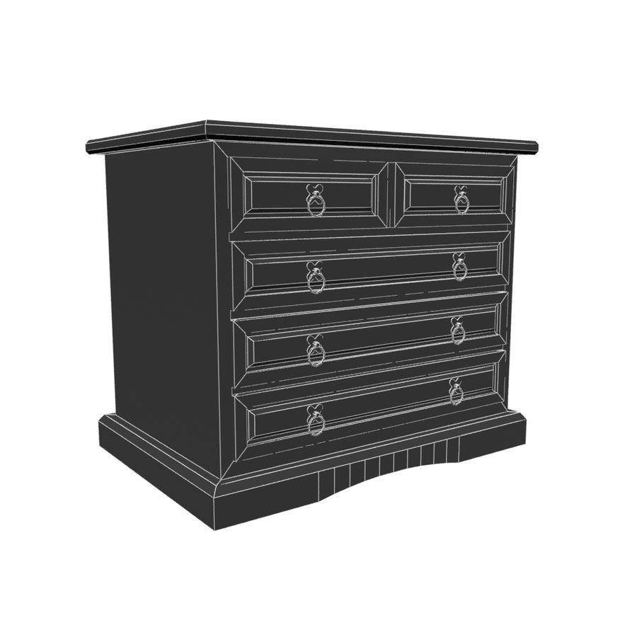 Colección de muebles de dormitorio royalty-free modelo 3d - Preview no. 15