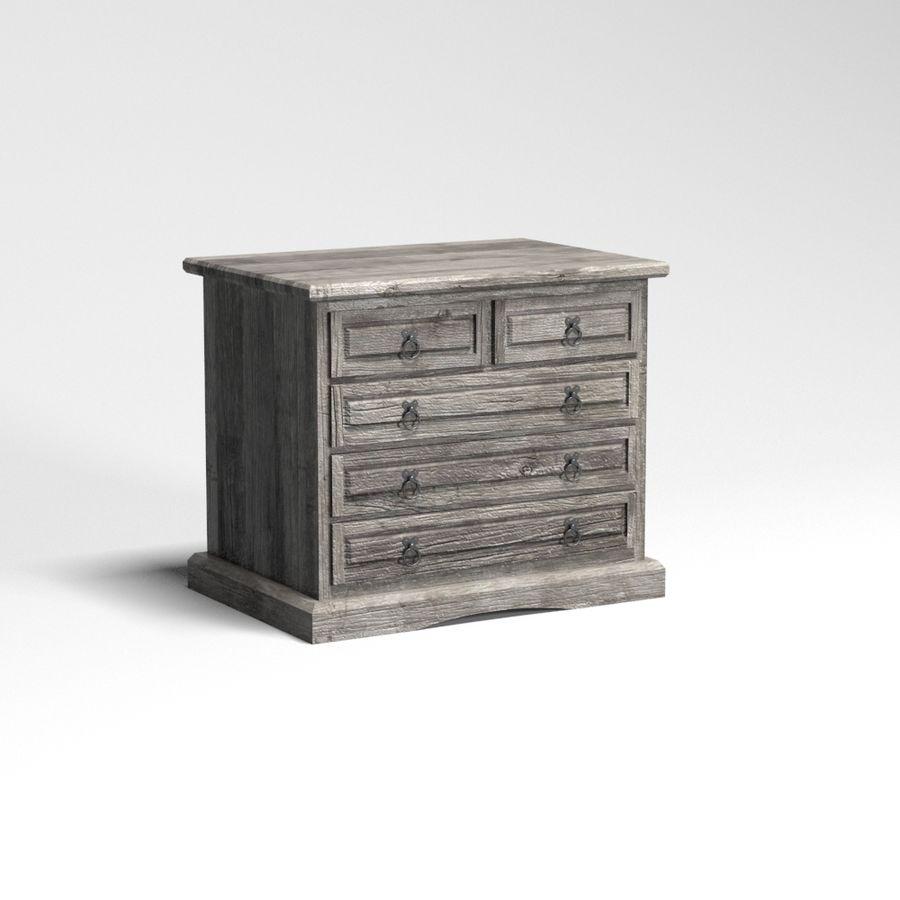 Colección de muebles de dormitorio royalty-free modelo 3d - Preview no. 20