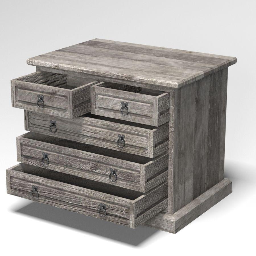 Colección de muebles de dormitorio royalty-free modelo 3d - Preview no. 19