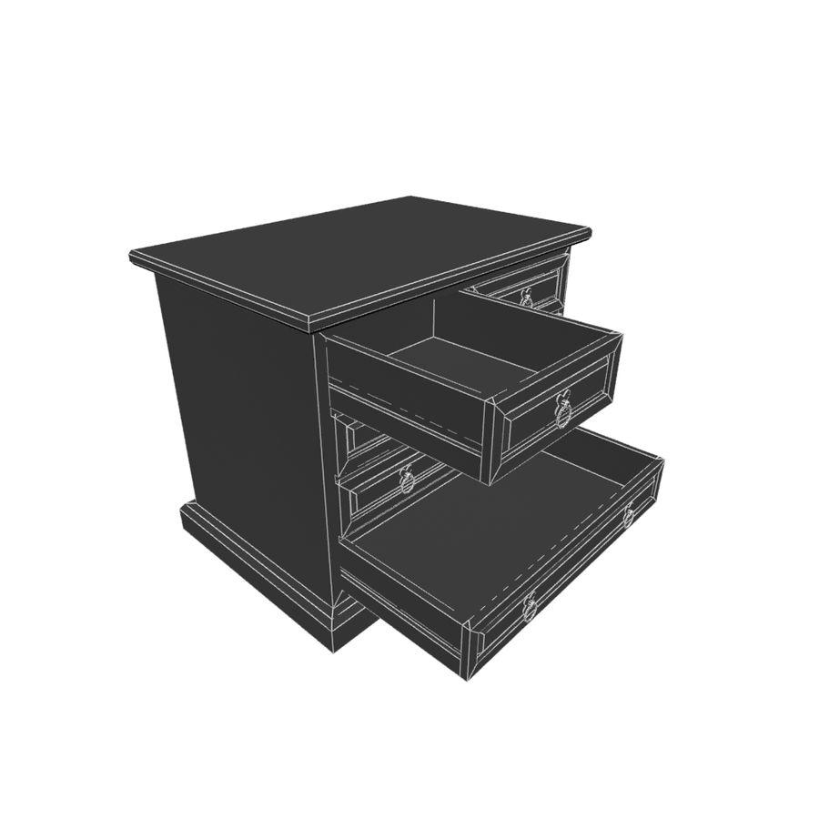 Colección de muebles de dormitorio royalty-free modelo 3d - Preview no. 16