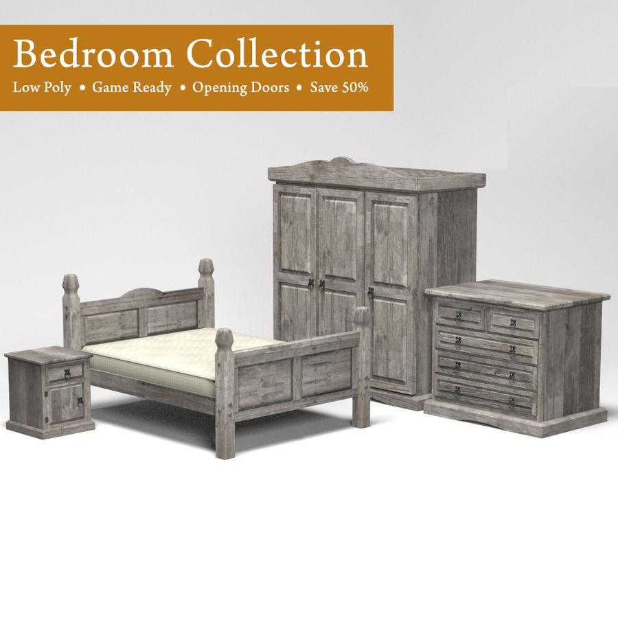 Colección de muebles de dormitorio royalty-free modelo 3d - Preview no. 1