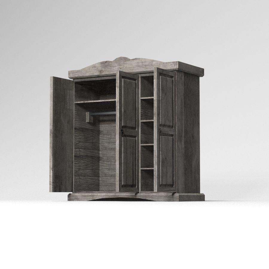 Colección de muebles de dormitorio royalty-free modelo 3d - Preview no. 34