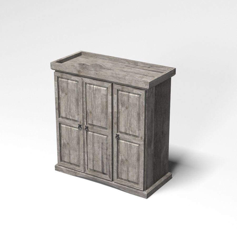 Colección de muebles de dormitorio royalty-free modelo 3d - Preview no. 32