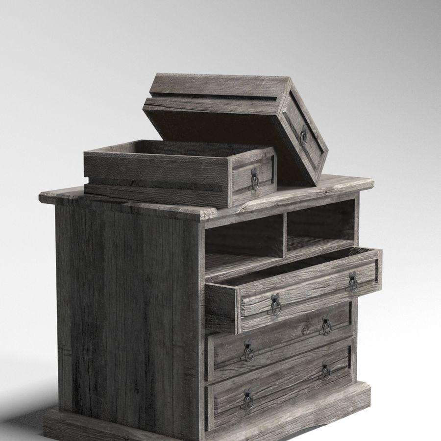 Colección de muebles de dormitorio royalty-free modelo 3d - Preview no. 22